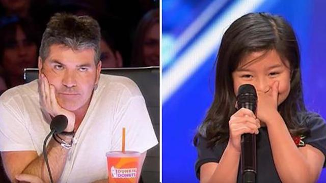 Simon Rolls eyes when she says she'll sing Celine hit, within seconds she forces everyone to their f