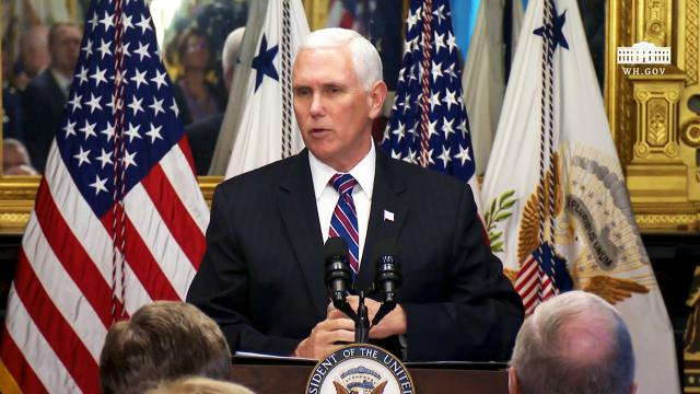 Vice President Pence participates in a Swearing-In ceremony
