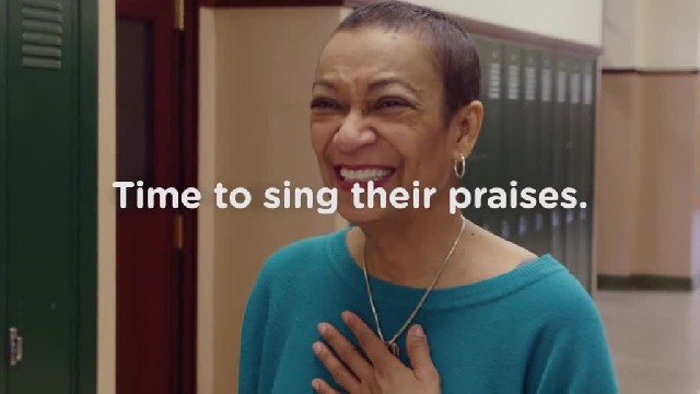 This choir teacher breaks down after former students surprise her with special performance