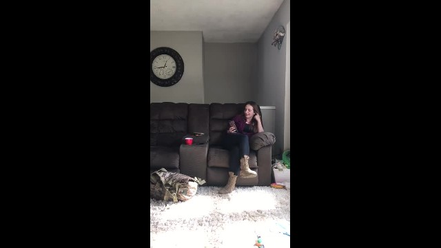 Woman returns home from military training. Wait for the moment the dogs notice her
