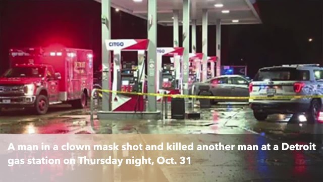 Man wearing clown mask shoots, kills man at Detroit gas station