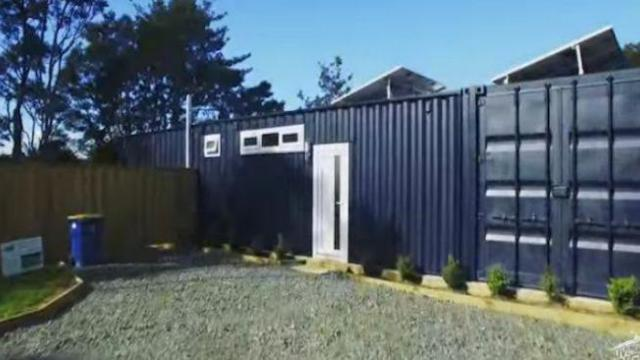 Woman transforms a shipping container into a stunningly luxurious