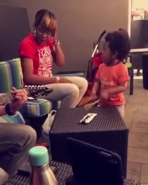 2-Year-Old Boy Starts Drumming Along As Mom Sings, Open-Mouthed Onlookers Grab Camera and Hit Record