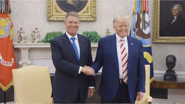 President Trump Welcomes the President of Romania Klaus Iohannis
