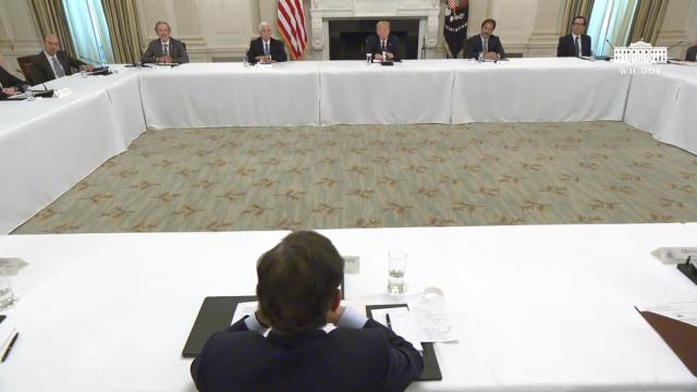 President Trump participates in a roundtable with restaurant executives and industry leaders