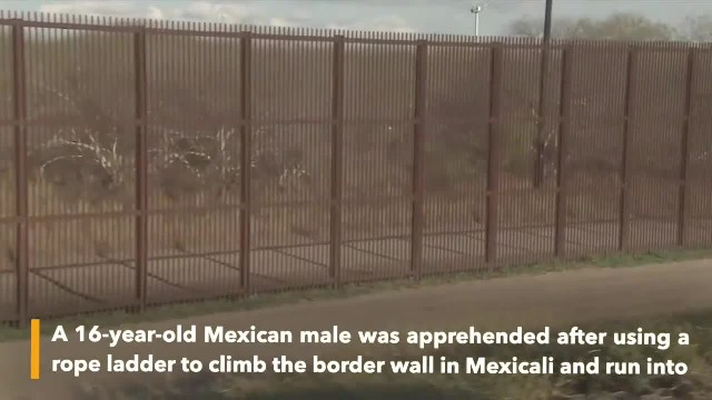 Video clip shows men climbing border wall in Mexicali, 16-year-old was arrested