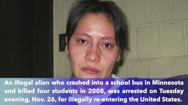 ICE arrests deported woman convicted of killing 4 children in a school bus in 2008 after she's found