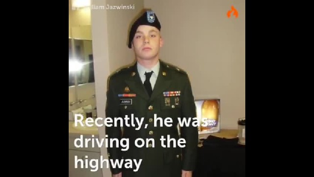 """ Officer Pulls Over Veteran Who Looks Like His Deceased Son"""