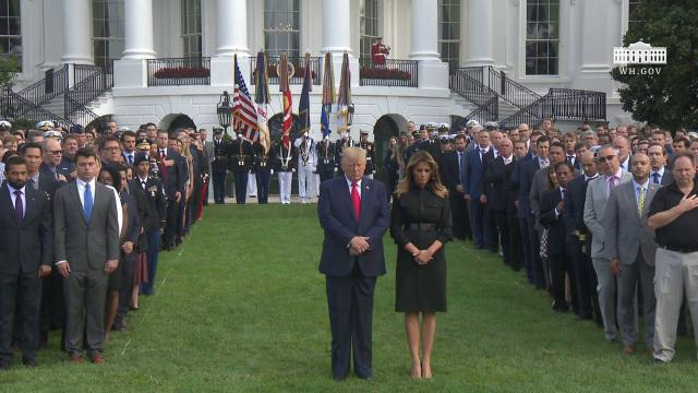 President Trump and The First Lady Participate in a Moment of Silence