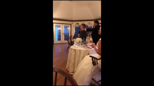 Ten-yr-old steals spotlight at dad's wedding with hilarious best man speech
