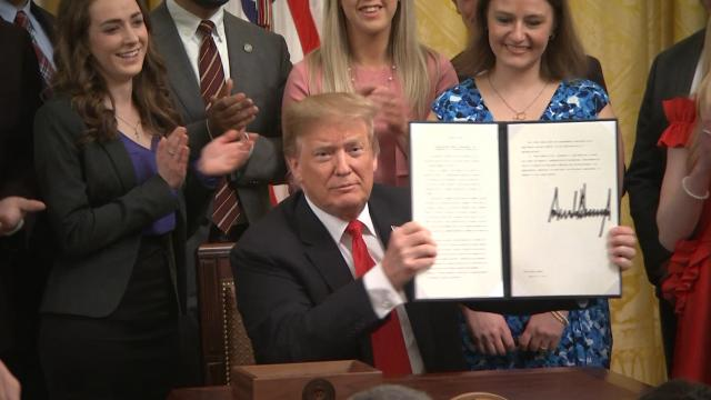 President Trump signs Executive Order protecting free speech on campus and promote transparency with