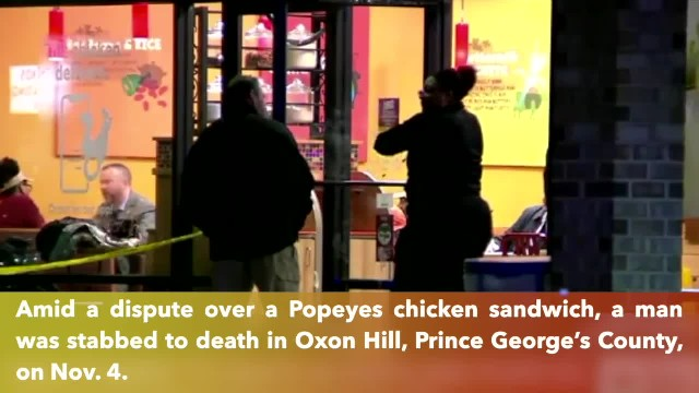 Man stabbed to death at Maryland Popeyes over chicken sandwich