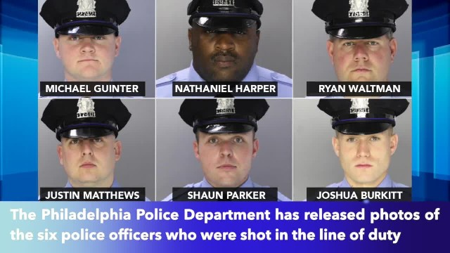 Philadelphia police release images of six officers shot