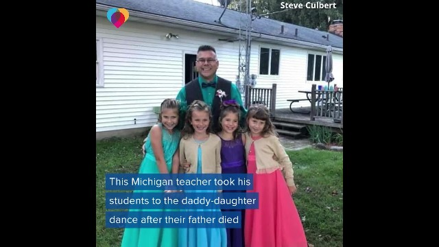 Their father died before the father-daughter dance, so teacher decides to step in