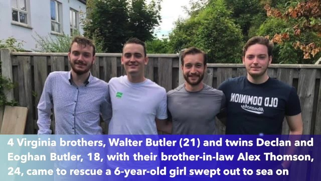 Four brave Virginia men rescued 6-year-old Irish girl from drowning