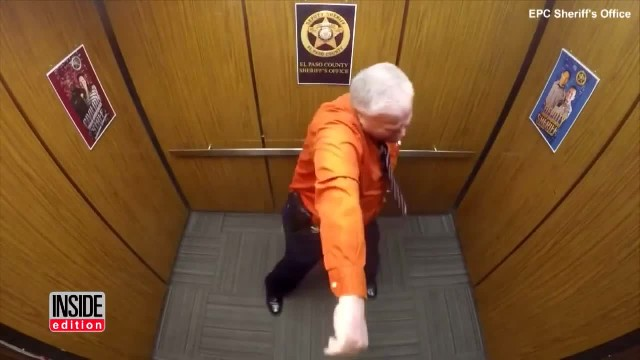 They're alone in the elevator, but deputy has no clue bosses lied about installing a camera