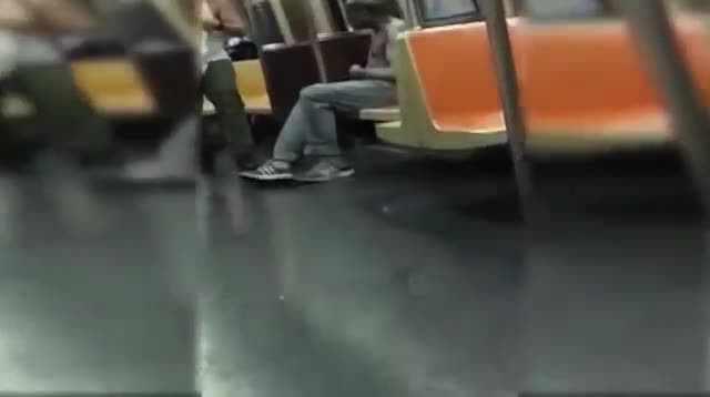 A Homeless Man Sits Alone On A Train. My Jaw Dropped When A Stranger Does THIS To Him