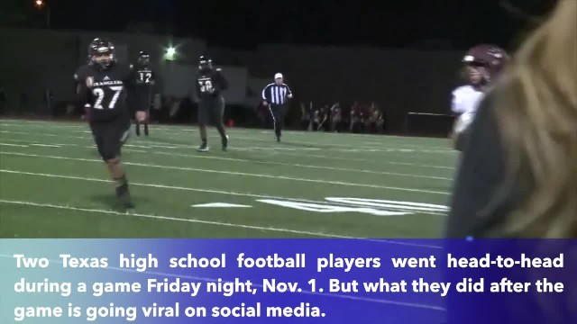 Sherman football player goes viral for praying with opponent after a game in Texas