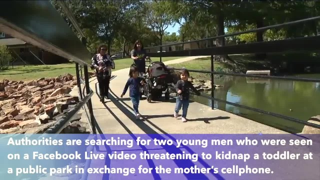 Texas men who attempted to kidnap toddler at public park caught on Facebook Live
