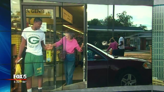 Teen Suddenly Runs From Dollar Store And Grabs Old Lady, But Has No Clue His Aunt Is Filming
