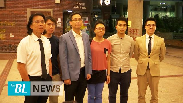 Hong Kong councillors urge university to end crisis