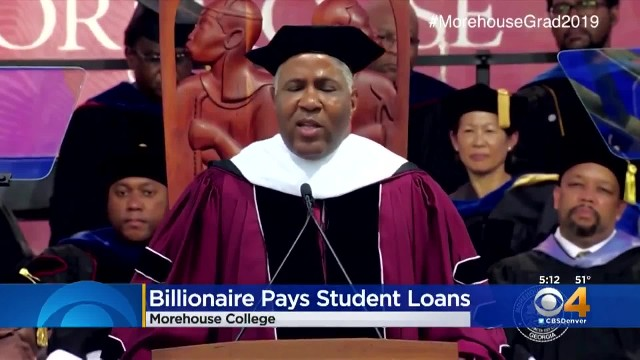 Billionaire is giving commencement speech when he drops bombshell about every student's debt
