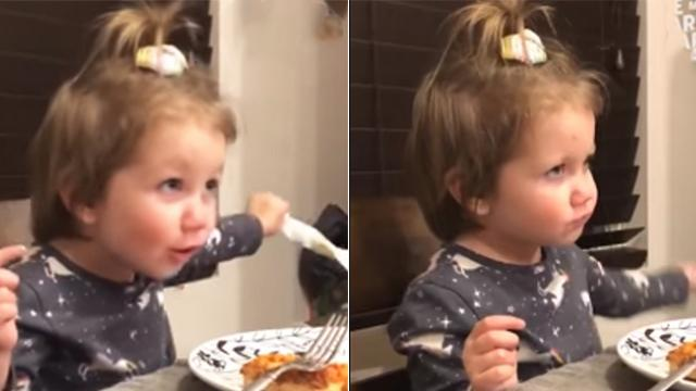 Toddler tells dad she has a boyfriend at dinner. Dad's comeback has everyone rolling