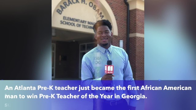 Young man becomes first black man to be Georgia's Pre-K teacher of the year
