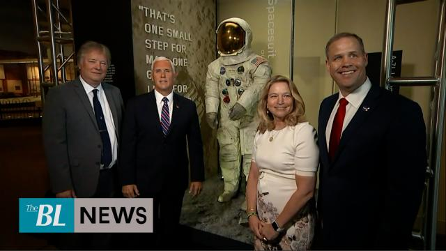 VP Pence unveils Armstrong s restored spacesuit