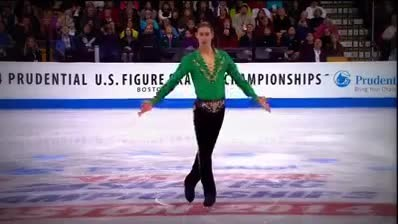 19-yr-old figure skater performs irish riverdance routine on iIce that brings entire stadium to thei