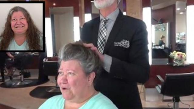 Stressed-out grandma's ready for a change, receives makeover that leaves her family speechless