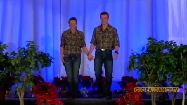 Brother and sister take stage to dance, send crowd wild with country routine