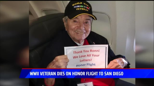 95-Year-Old WWII Vet Smiles In Photo Moments Before He Passes Away During Return Flight Home