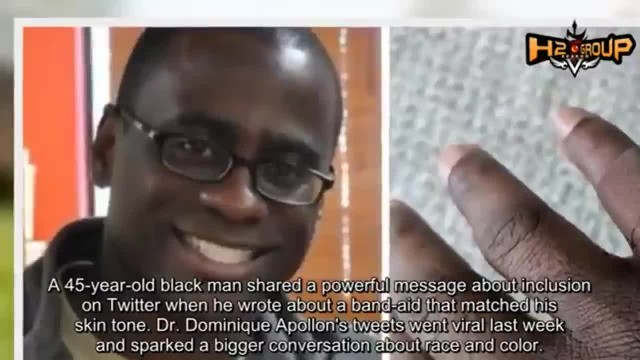 Man gets emotional after using a bandage that matches his skin tone for the first time