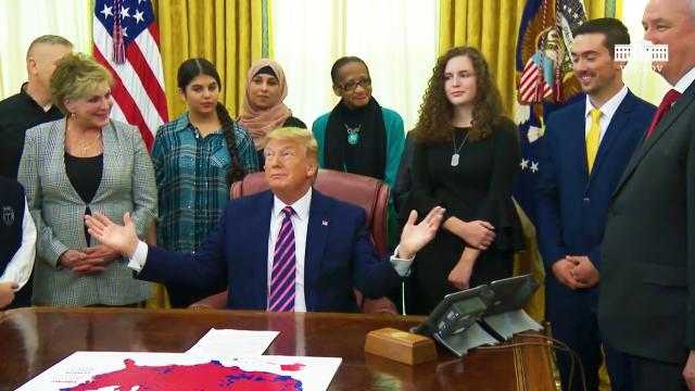 President Trump participates in the Announcement of the Guidance on Constitutional Prayer
