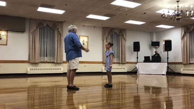 His Granddaughter Had No One Else To Dance With And Grandpa's Moves Blows The Roof Off The Place