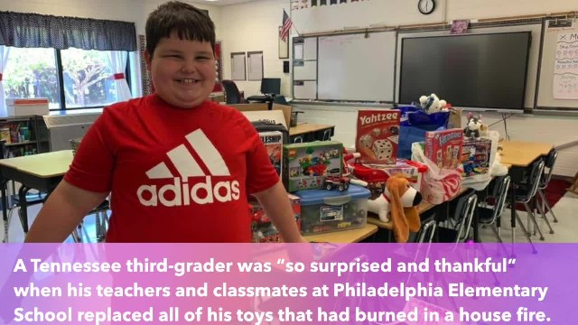 Third-graders organize 'secret toy drive' for classmate who lost belongings in house fire