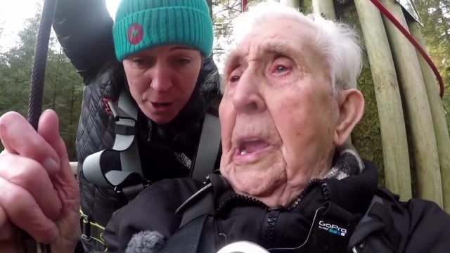 106-Year-Old Great-Great-Grandfather Breaks Zip Line World Record