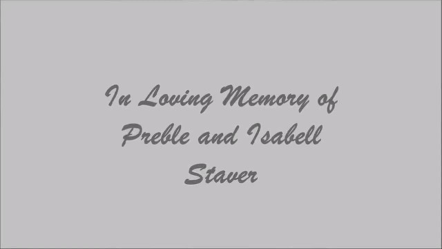 Celebration of life - Prebel & Isabell Staver