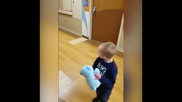 Little boy with Down syndrome meets his new baby brother. His genuine reaction has gone viral