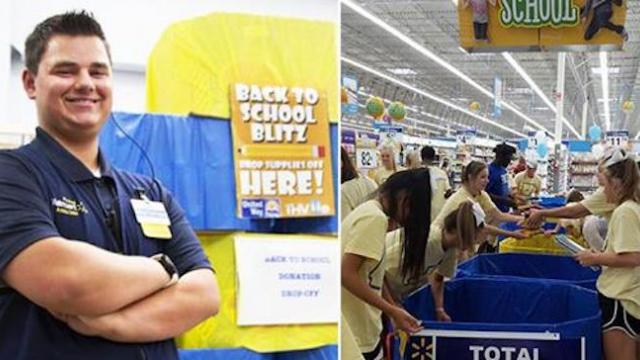 Teen works to earn money for college but uses paycheck to buy school supplies for others