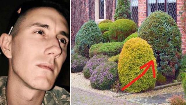 Man has final cigarette and decides to take his life. Then he sees movement in the bushes