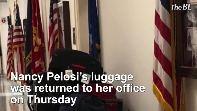 Luggage returned to Pelosi's office after Trump cancels her overseas trip