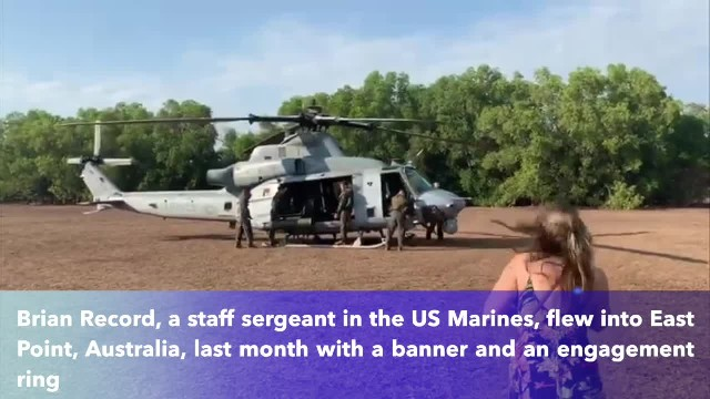 US Marine Staff Sergeant used chopper to propose to long-distance Australian girlfriend