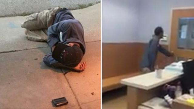 He was sleeping outside the animal shelter in hopes of finding his lost dog