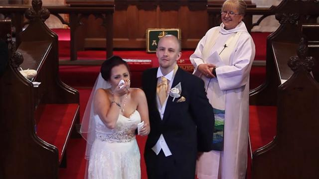 Music teacher receives the greatest gift from her students before exchanging wedding vows