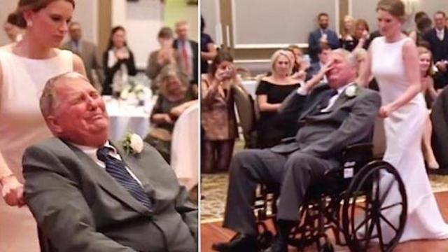 Dying dad retires to room after daughter's wedding to rest, comes back to make good on dance vow