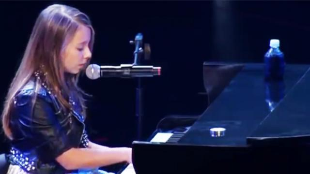 This little girl gives a performance that leaves everyone stunned