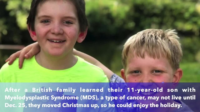 11-year-old boy with terminal cancer celebrates Christmas early