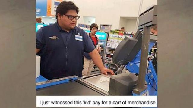 Teen cashier rings up sobbing woman's $110 grocery bill, stops her in line and says 'I got you'